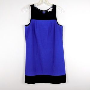 LOFT | Purple Black Color Block Dress - H11